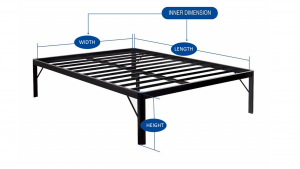 PrimaSleep 18 Inch Tall Metal Bed Frame