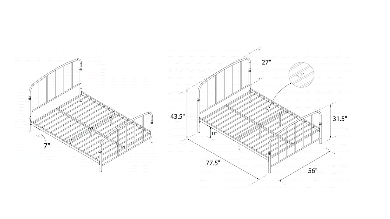 cheap metal bed frame